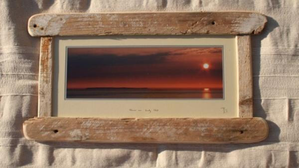 driftwood frame 25 x 13 inches panorama style